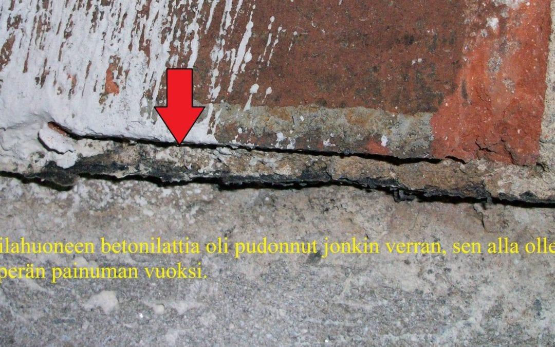 Ympäristö, polttoöljyvuoto kattilahuoneessa