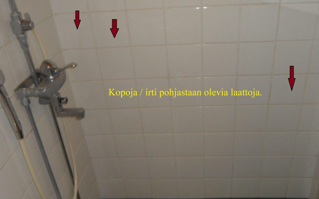 Vesi, kylpyhuoneen ja keittiön kosteusmittaus