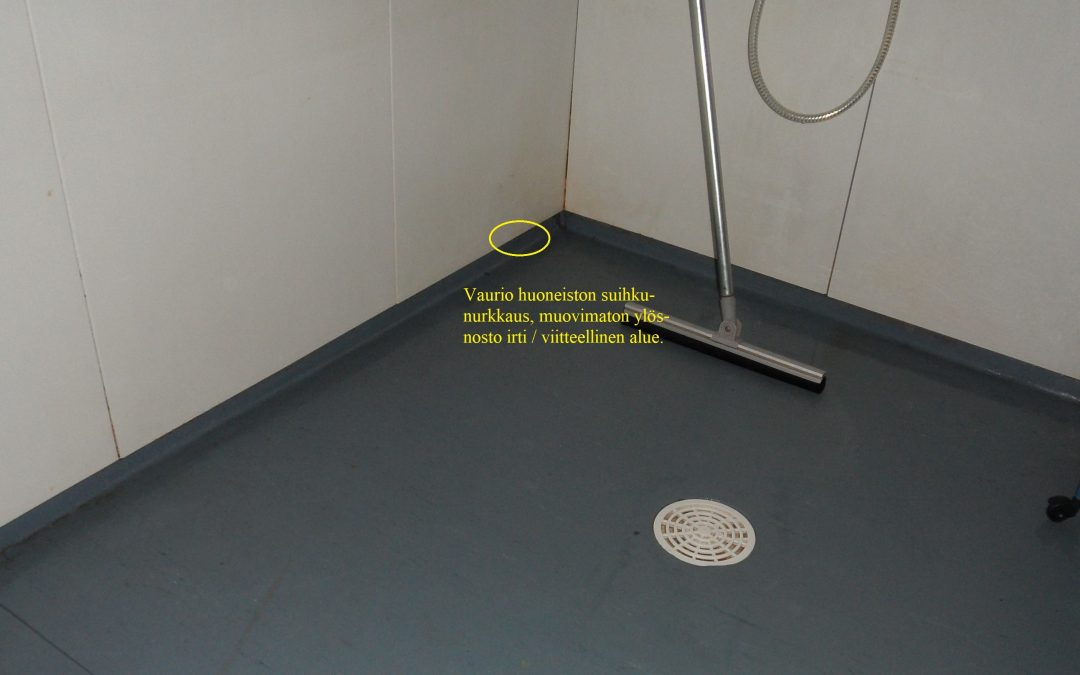 Vesi, kosteusvaurio makuuhuoneessa, kosteusmittaus